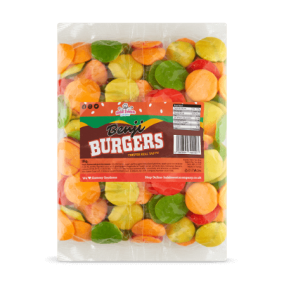 Benji Burgers Bulk Bag 1Kg. Wholesale - United Kingdom - Halal Sweets Company