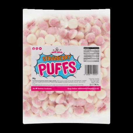 Pink Puffs Bulk Bag 1Kg. Wholesale - United Kingdom - Halal Sweets Company