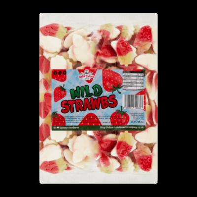 Wild Strawbs Bulk Bag 1Kg. Wholesale - United Kingdom - Halal Sweets Company